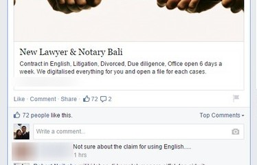 Ad for lawyer with bad English